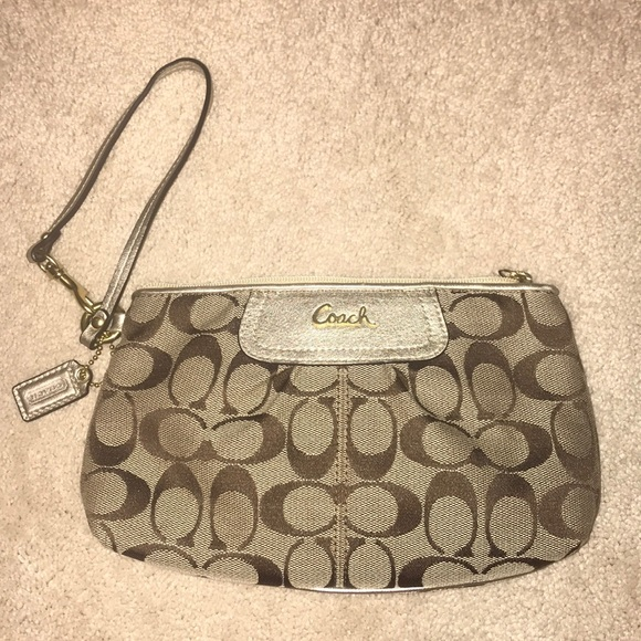 Coach Handbags - New Coach gold wristlet